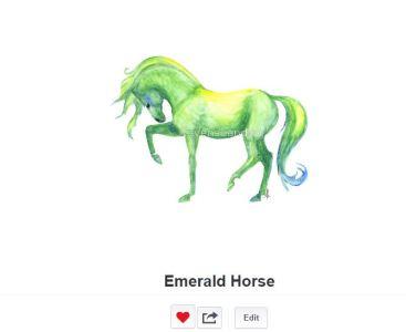 Emerald Horse on Redbubble