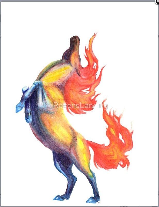 Firey horse