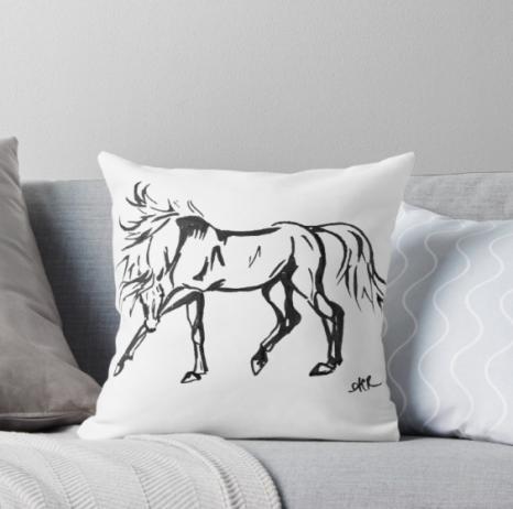 dancing horse pillow