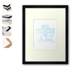 have courage light blue framed