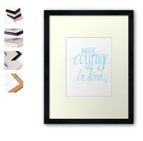 have courage light blue framed